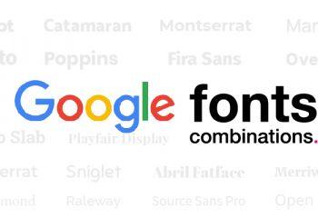 20 FREE Google Fonts Combinations